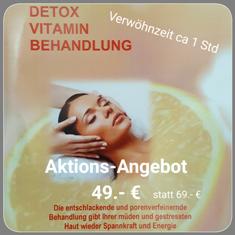 Detox-Vitamin-Behandlung entschlackende, porenverfeinernde Anti Aging Behandlung