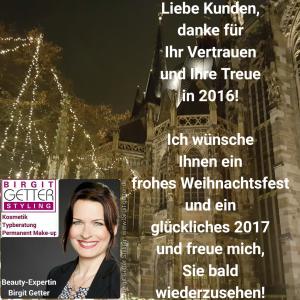 Frohe Weihnachten und ein glückliches Neues Jahr 2017