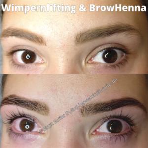 Lashlifting und BrowHenna für Augenbrauen